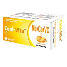 Private Labels Calcium And Magnesium Tablets With Vitamin C 500mg Individual Wrapped