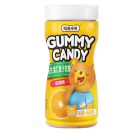 Funny Shape Natural Gummy Vitamins , Orange Gummy Candy 200g Per Bottle