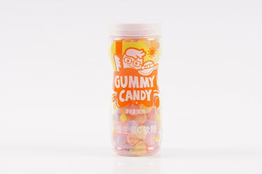 Vitamin C Pectin Gummy Candy With Cola And Peach Flavor Drops Shaped