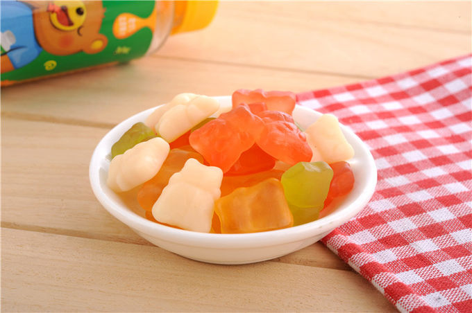 Delicious Mixed Fruit Gummy Bears / Gummy Bear Sweets Individual Bag Wrapped